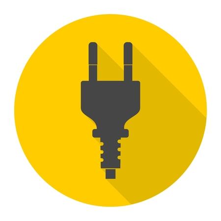 Electric plug sign icon