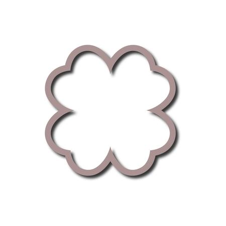 Simple Four Leaf Clover icon Illustration