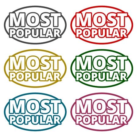 most popular: Most Popular icons set