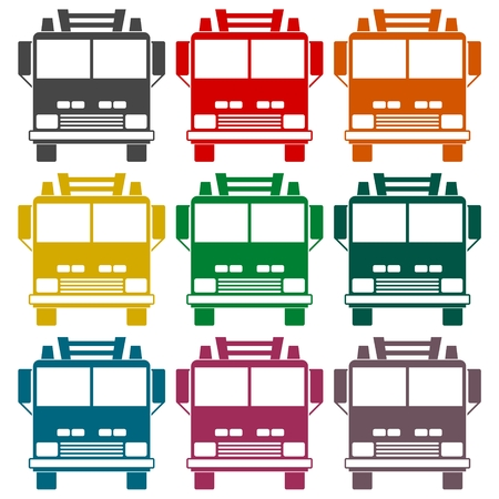 camion: Fire truck, Fire station icon set
