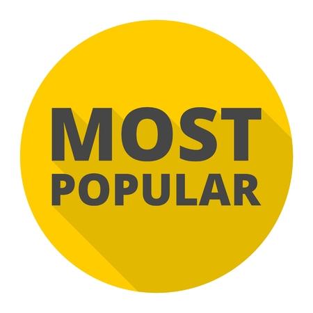most popular: Most Popular icon Illustration
