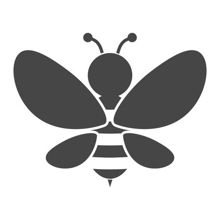 Bee Silhouette illustration icon Illustration