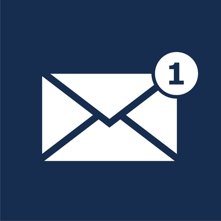 unread: Simple image unread mail icon