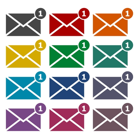 unread: Simple image unread mail icons set