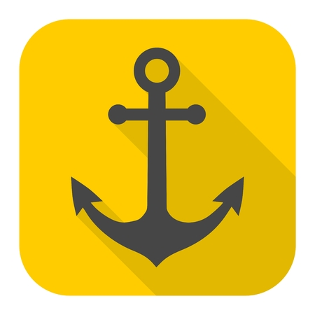 welded: Anchor icon with long shadow