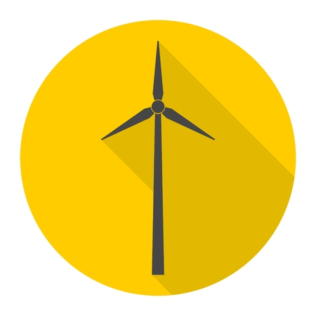 Windmill icon with long shadow