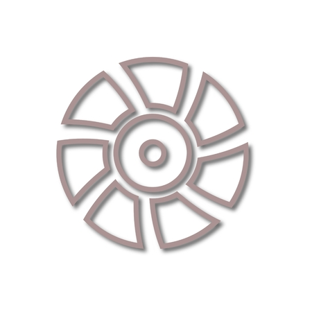 Exhaust fan vector icon Illustration