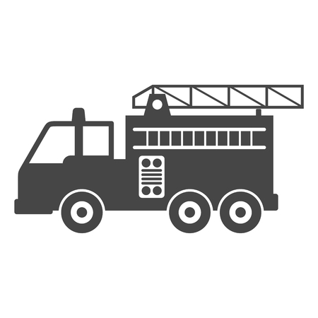 fire icon: Fire truck, Fire station icon Illustration