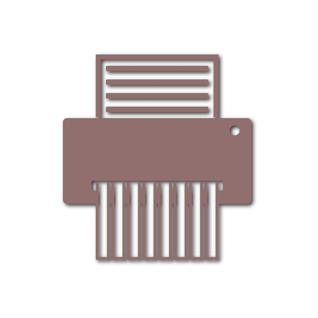 shredding: Paper Shredder Icon Illustration