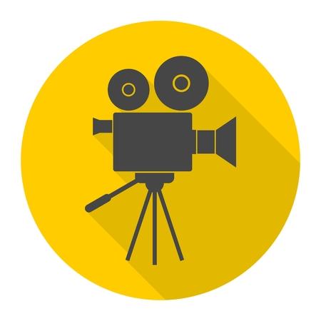 Video camera, Film Camera Icon 矢量图像