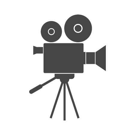 cinematograph: Video camera, Film Camera Icons set with long shadow