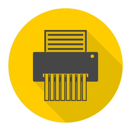 Paper Shredder Icon Illustration