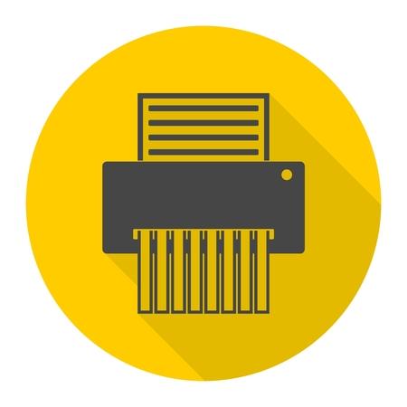 paper shredder: Paper Shredder Icon Illustration