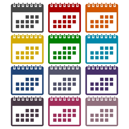 calendar icons: Calendar icons set
