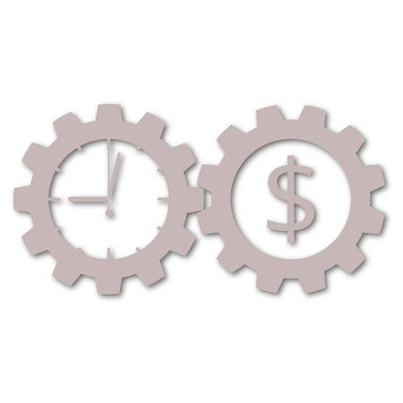 annuity: Time is money, Business gears concept