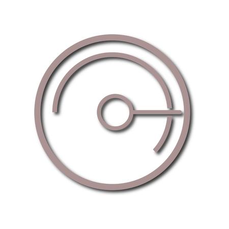 pressure gauge: Simple Pressure gauge, manometer icon
