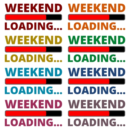 weekend: Weekend Loading icons set