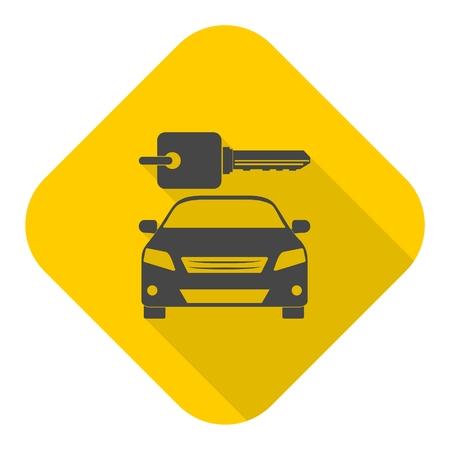 Louer une icône du design Transport voiture avec ombre Banque d'images - 61473678
