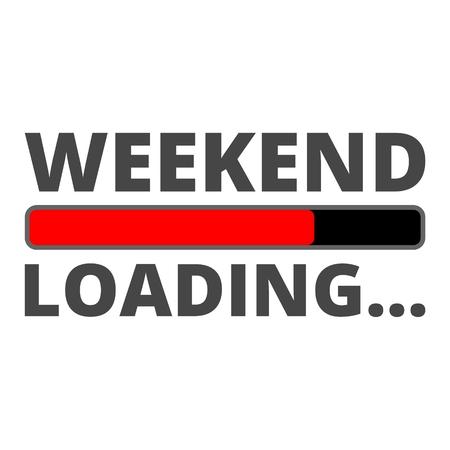 Weekend icoon Loading Stock Illustratie