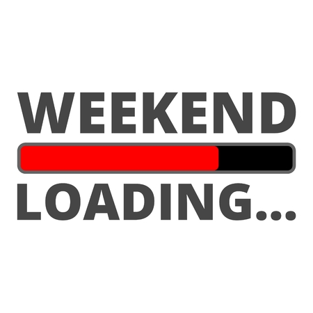 Weekend Loading icon Фото со стока - 61473690