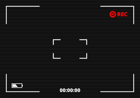 Camera viewfinder rec background vector Vettoriali