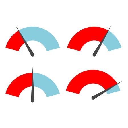 Speedometer or gauge icons set