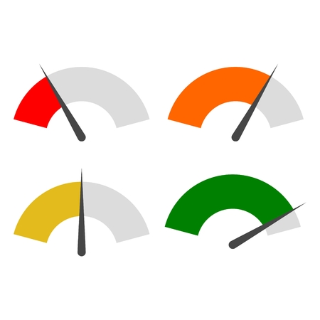 Tachometer oder Spur Icons Set