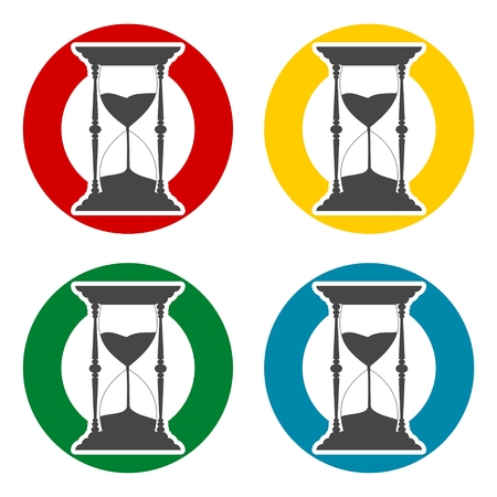 metering: Sand Hourglass icons set