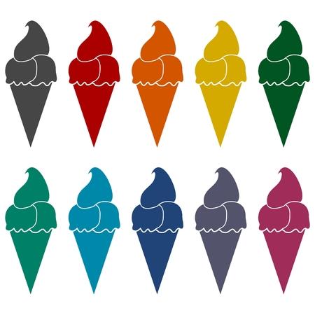 ilustration: Ice Cream Illustration icons set