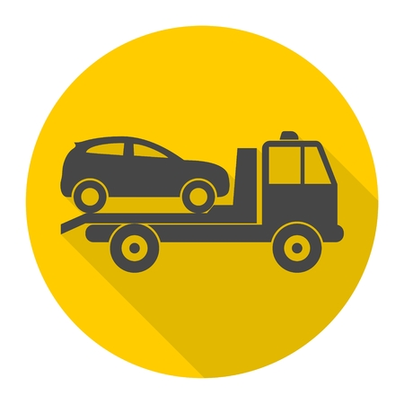 Car towing truck icon 向量圖像