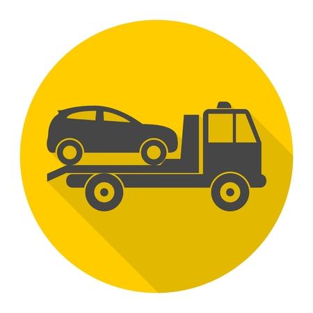 Car towing truck icon Vectores
