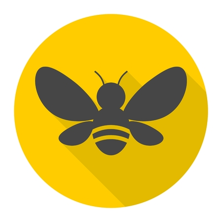 pollen: Bee Silhouette illustration icon Illustration