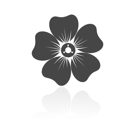 margerite: Silhouette of flower icon Illustration