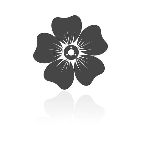 daisyflower: Silhouette of flower icon Illustration