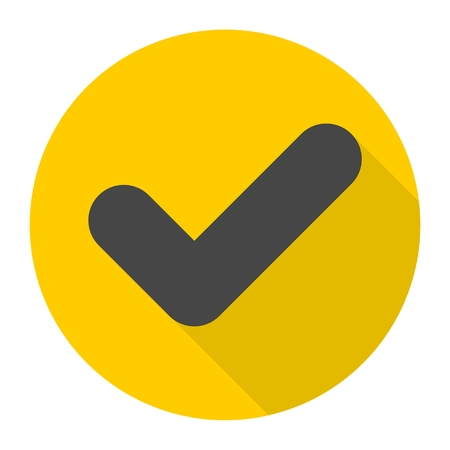 Checkmark Icon with long shadow