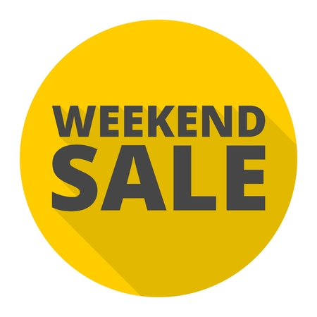 Weekend Sale icon with long shadow Illustration