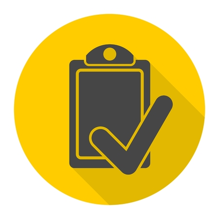 filling folder: Checklist Icon with long shadow