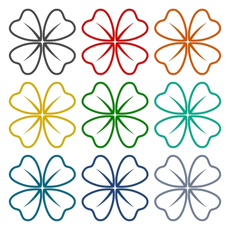 trifolium: Four Leaf Clover icons set