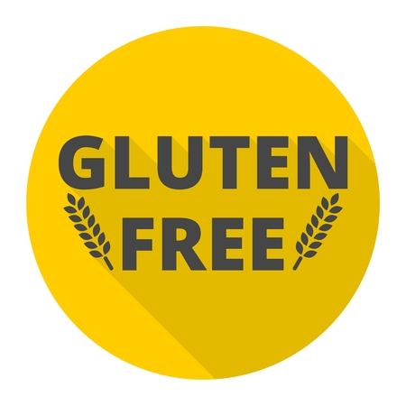 sprue: Gluten free icon with long shadow Illustration