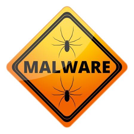 hazard: Malware Attention Hazard sign