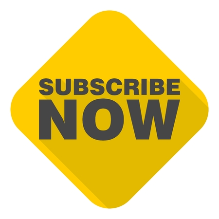 subscribe now: Subscribe Now icon with long shadow