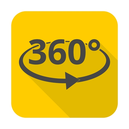 degrees: 360 degrees icon