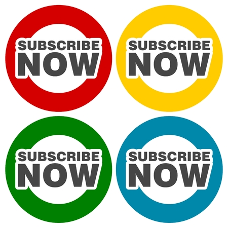 subscribe now: Subscribe Now icons set