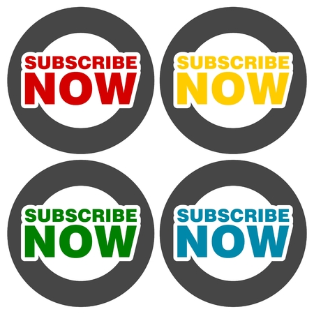 precedency: Subscribe Now icons set
