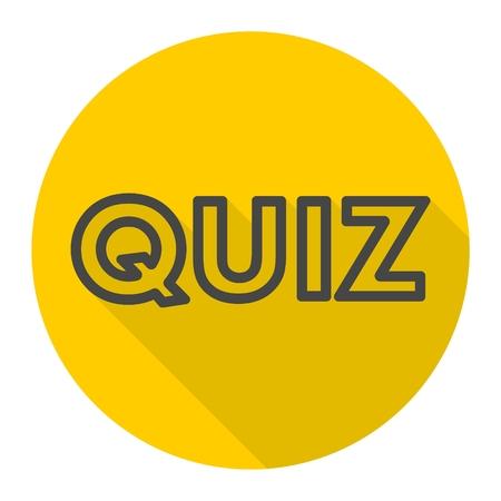 quiz: Quiz icon with long shadow