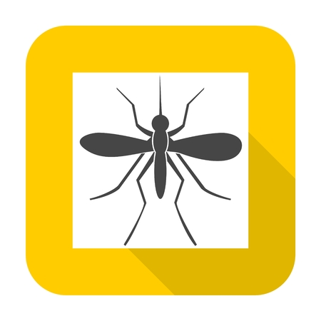 albopictus: Mosquito icon with long shadow