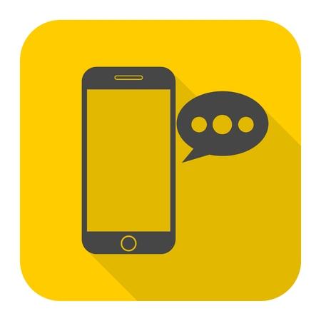 Smart phone, un message vocal icône Vecteurs