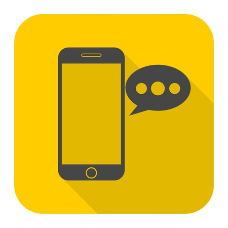 Smart phone, Voice message icon Illustration