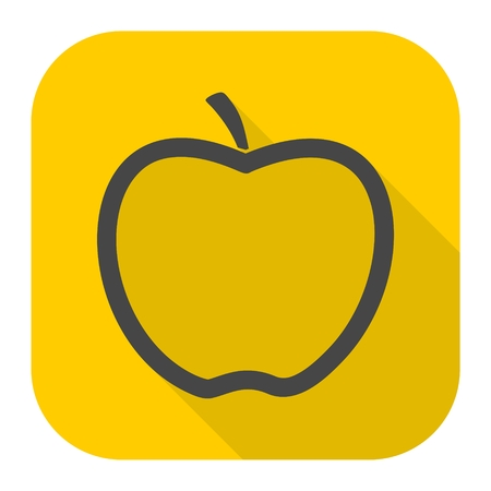 Apple icon with long shadow Illustration
