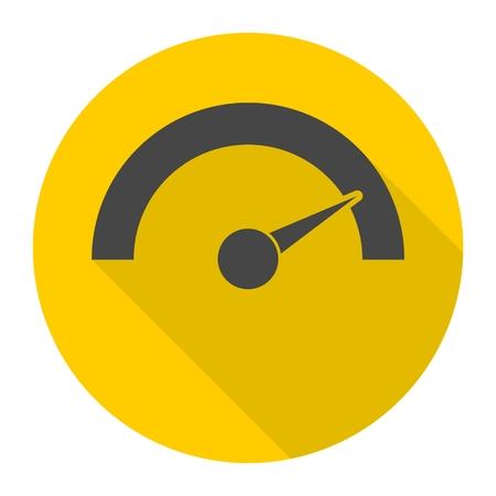 Manometer - Manometer Symbol mit langen Schatten